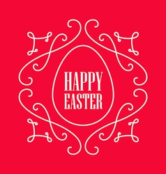 Happy easter - festive card with monogram style vector