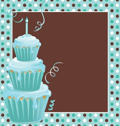 Stacked cupcakes vector