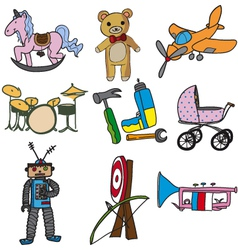 Collection of toys vector