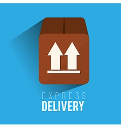 Delivery design over blue background vector