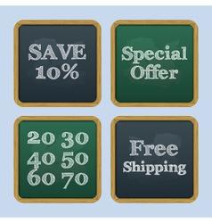 Chalkboard back to school text sale vector