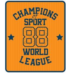 Sport label vector