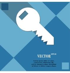 Key icon symbol flat modern web design with long vector