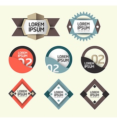 Modern design labels vector