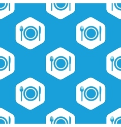 Dishware hexagon pattern vector