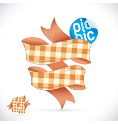 Picnic sign vector