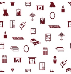 Seamless bedroom pattern vector