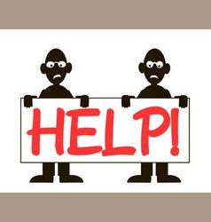 Men help vector
