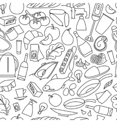 Supermarket goods pattern vector