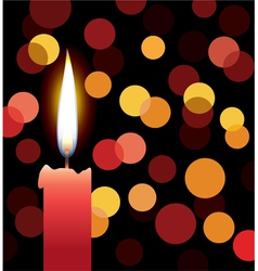 Red candle vector