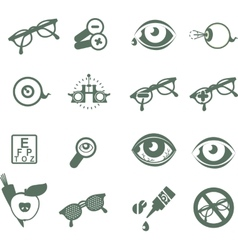 Ophthalmic icons vector