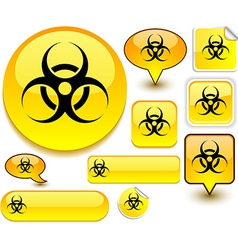 Virus yellow signs vector