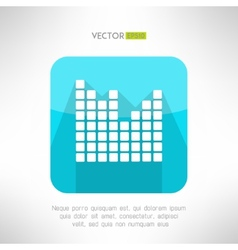 Musical equalizer icon in modern flat design vector