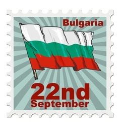 National day of bulgaria vector