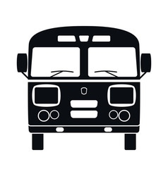 Retro bus icon vector