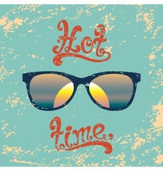 Hot summer time handwritten background vector