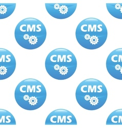 Cms sign pattern vector