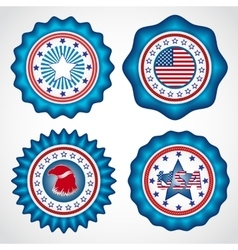 American independence day holiday badges vector