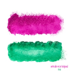 Pink and green watercolor banner vector
