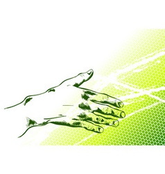 Simple hand reaching out vector
