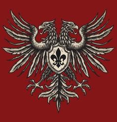 Hand drawn heraldic eagle vector