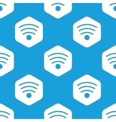 Wi-fi hexagon pattern vector