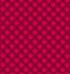 Red quilted background pattern vector