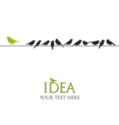 Birds on wire - idea concept vector