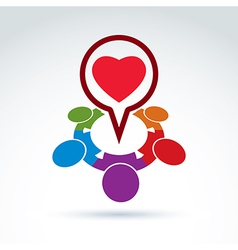 Heart and society icon medical organization vector