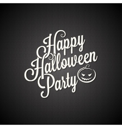 Halloween party vintage lettering background vector