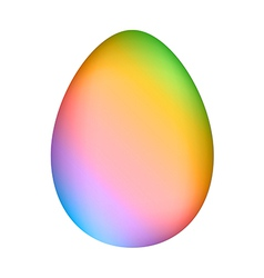 Rainbow minimalistic easter egg over white mesh ve vector