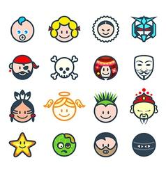 Social characters ii vector