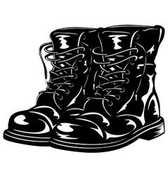 Black boots vector
