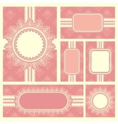 Wedding reception invitation card vector