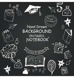Freehand drawing chalkboard icons vector