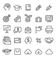 Business education line icons vector