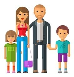 Family logo design template parents or vector