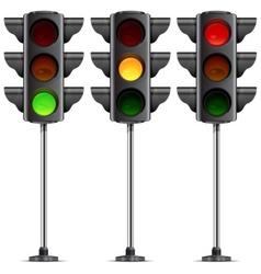 Three traffic lights vector