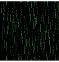 Dark green seamless pattern with binary code vector