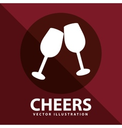 Cheers icon vector