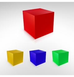 Cubes with reflections and shadows vector
