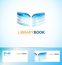 Book library logo vector