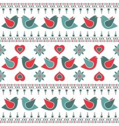 Bird pattern decoration vector