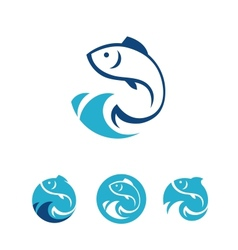 Fish signs vector
