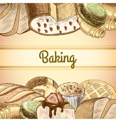 Baking pastry poster vector
