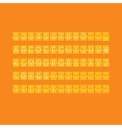 Flat orange paper countdown timer vector