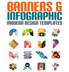 Banners and infographic modern design templates vector