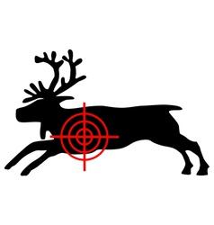Reindeer crosshair vector