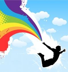 Rainbow men vector