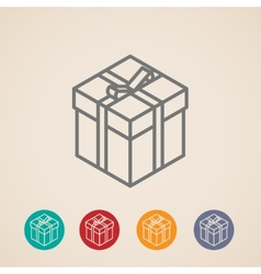 Isometric gift box icons vector